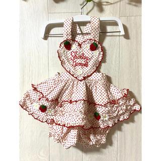 シャーリーテンプル(Shirley Temple)の【シャーリーテンプル】立体イチゴが可愛いロンパース(ロンパース)