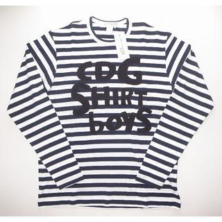 コムデギャルソン(COMME des GARCONS)のコムデギャルソン BOY ボーダー ロングTシャツ(Tシャツ/カットソー(七分/長袖))