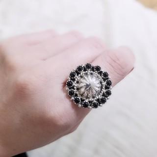 インディアンジュエリー☆オニキス☆クラスターリング(リング(指輪))