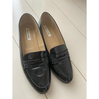 オデットエオディール(Odette e Odile)の【Odette e Odile】パテントローファー24.5 黒(ローファー/革靴)
