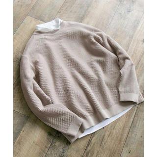 アーバンリサーチ(URBAN RESEARCH)のルーズワッフルクルーネック tシャツ(Tシャツ/カットソー(七分/長袖))