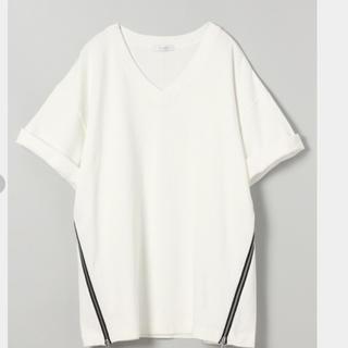 ジーナシス(JEANASIS)のJEANASIS   サイドZIP TEE(Tシャツ(半袖/袖なし))