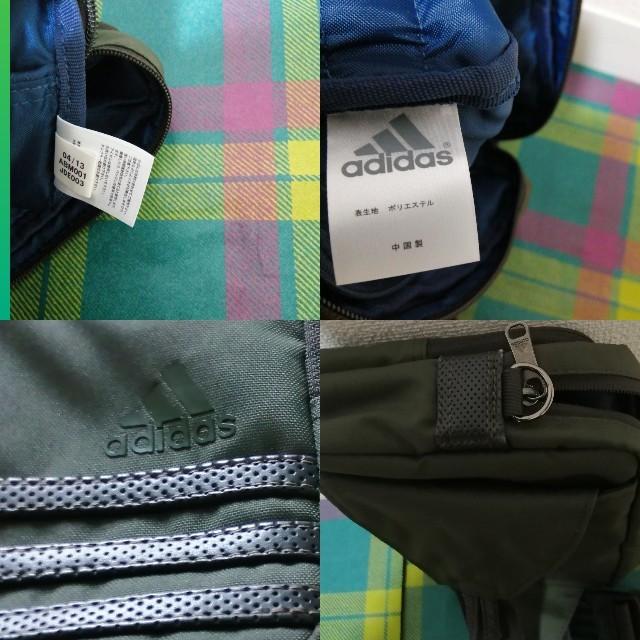 adidas(アディダス)の美品adidasアディダスボディバッグウエストバッグポケットたくさんグリーン メンズのバッグ(ボディーバッグ)の商品写真