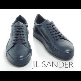 Jil Sander - JIL SANDER レースアップ レザー スニーカー 新品 37
