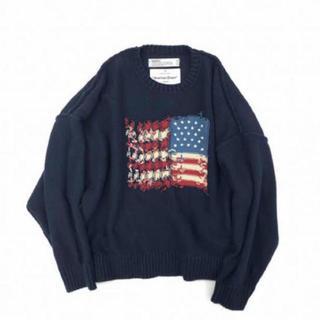 DAIRIKU inside out America knit navy(ニット/セーター)