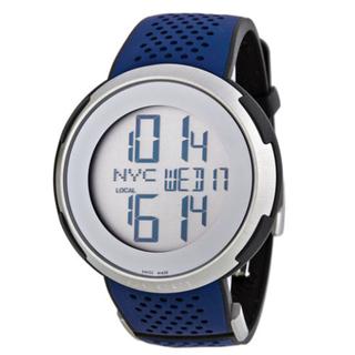 グッチ(Gucci)のグッチ I-グッチ YA114105 デジタルダイアル×ブルーラバーベルト(腕時計(デジタル))