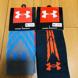 アンダーアーマー(UNDER ARMOUR)のアンダーアーマー ソックス 靴下 UNDER ARMOUR 赤青(ソックス)