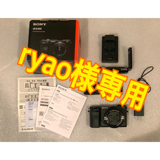 SONY - 【美品/保証+おまけ】a6400パワーズームキット