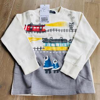 クレードスコープ(kladskap)のグレードスコープ 雪国電車プリント裏起毛トレーナー 100(Tシャツ/カットソー)