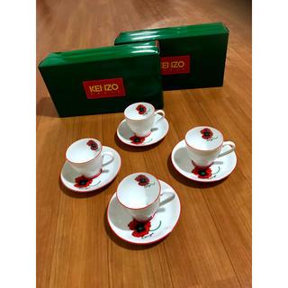 ケンゾー(KENZO)の新品!ケンゾー KENZO コクリコデザイン カップ&ソーサー 4組セット(食器)