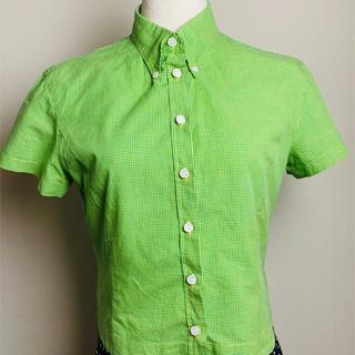 ポールスミス(Paul Smith)のポールスミス ウーマン グリーンチェック半袖シャツ PM(シャツ/ブラウス(半袖/袖なし))