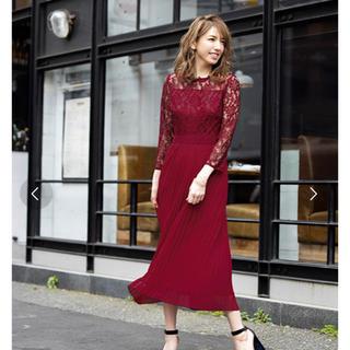 ガール(GIRL)のコンフィデンスマンJP着用商品 ドレス パーティードレス 赤色 未使用 (ロングドレス)