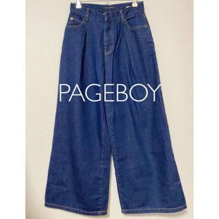 ページボーイ(PAGEBOY)のPAGEBOY[ページボーイ]デニム ワイド パンツ(デニム/ジーンズ)