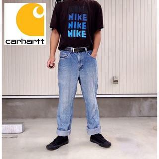carhartt - 【カーハート】希少メキシコ製 90s〜 デニムパンツ ジーンズ 革ロゴ W32