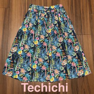 Techichi - 美品 Techichi テチチ リバティプリントスカート ウエストゴム
