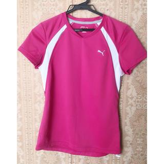 プーマ(PUMA)のPUMA 半袖 Tシャツ メッシュ ヨガ ランニング ピンク(ヨガ)