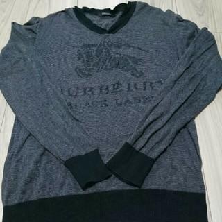 BURBERRY BLACK LABEL - BURBERRY BLACK LABEL ニット セーター M プリント