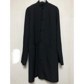 ブラックコムデギャルソン(BLACK COMME des GARCONS)のブラックコムデギャルソン チャイナコート ポリエステル 縮絨 L(ステンカラーコート)