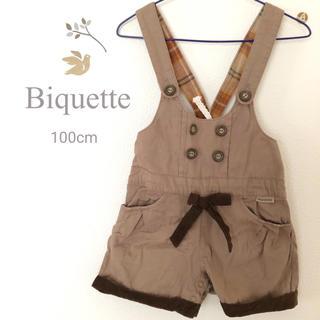 ビケット(Biquette)の美品♡ビケット 秋冬サロペット 100(ワンピース)