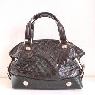 ドルチェアンドガッバーナ(DOLCE&GABBANA)のDolce&GabbanaBLACKbagドルガバエナメルパテントハンドバッグ黒(ハンドバッグ)