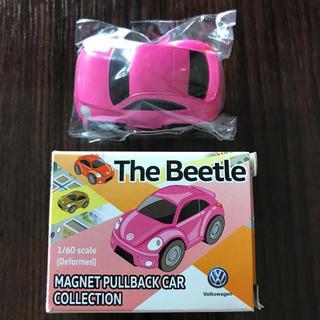 フォルクスワーゲン(Volkswagen)のThe Beetle プルパックカー ピンク 限定 非売品(ミニカー)