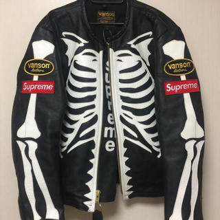 Supreme - Supreme 17AW Vanson Leather Bones Jacket