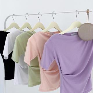 ディーホリック(dholic)のqung 2枚セット ギャザーTシャツ(Tシャツ/カットソー(半袖/袖なし))