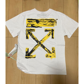 オフホワイト(OFF-WHITE)のTシャツ 白 男女兼用 サイズS(Tシャツ(半袖/袖なし))