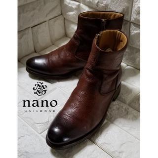 ナノユニバース(nano・universe)の✿Nano Universe✿ サイドジップブーツ size41 ブラウン(ブーツ)