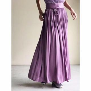 mame - mame mame kurogouchi サテンロングスカート