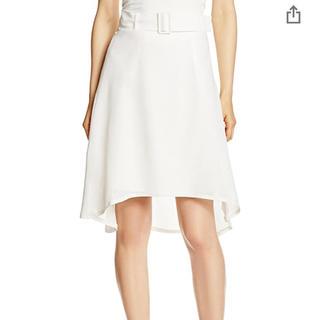 アンレリッシュ(UNRELISH)のUNRELISH ベルト付きフレアースカート(ひざ丈スカート)