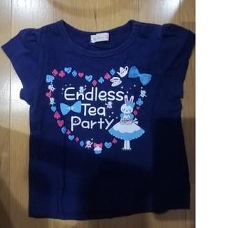 ニットプランナー(KP)のケーピー Tシャツ ミミちゃん リボン 80(Tシャツ)
