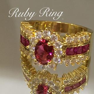ルビーレッドのリング 13-14(リング(指輪))