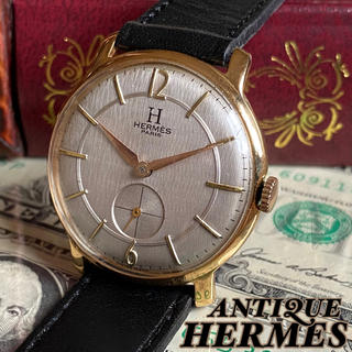 エルメス(Hermes)のOH済【一目惚れ】HERMES ★ エルメス 14KGP アンティーク 腕時計(腕時計(アナログ))
