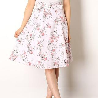 レッセパッセ(LAISSE PASSE)の新品★LAISSE PASSE★チューリップスカート★ピンク★サイズ35(ひざ丈スカート)