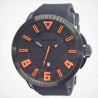 テンデンス(Tendence)のテンデンス TT530003 ブラック&オレンジ 腕時計(腕時計(アナログ))