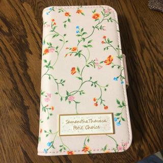 サマンサタバサプチチョイス(Samantha Thavasa Petit Choice)のサマンサ タバサ プチチョイス iPhoneケース フラワープリント(iPhoneケース)