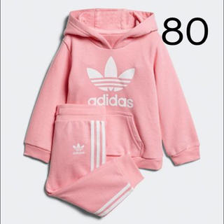 アディダス(adidas)の新品!完売サイズ!アディダスキッズ♡パーカーセットアップ80cm(パンツ)