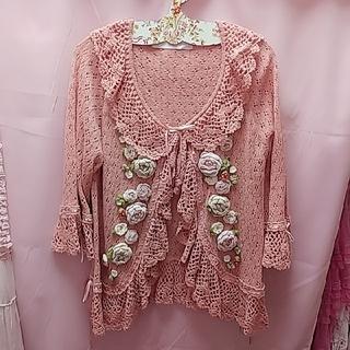 ピンクハウス(PINK HOUSE)の苺薔薇カーディガン♡(カーディガン)