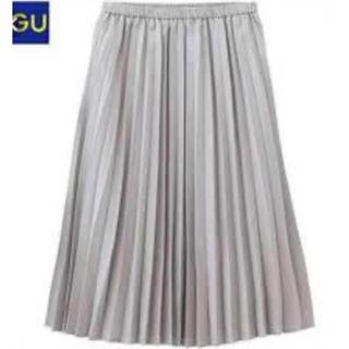 GU - GU プリーツスカート グレー M