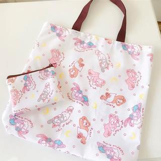 ダッフィー(ダッフィー)の日本未発売 ダッフィーフレンズ エコバッグ お買い物袋 トートバッグ 収納袋付き(エコバッグ)