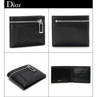 ディオール(Dior)の新品専用箱等Dior Hommeラムレザー本革zip加工イタリア製財布小銭入付(折り財布)