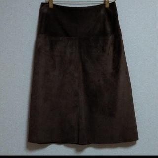 アニエスベー(agnes b.)のアニエスベーレザースカート(ひざ丈スカート)