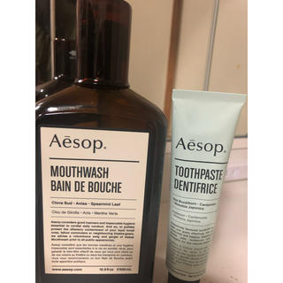 イソップ(Aesop)のAesop 新品未使用 マウスウォッシュ&トゥースペースト(マウスウォッシュ/スプレー)