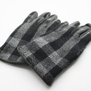 バーバリー(BURBERRY)のバーバリー 手袋 メンズ 黒×グレー(手袋)