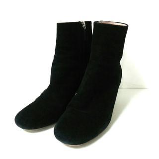ミュウミュウ(miumiu)のミュウミュウ ショートブーツ 37 1/2 黒(ブーツ)