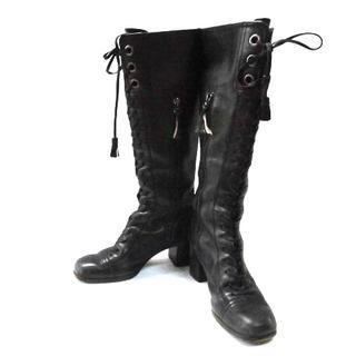 ミュウミュウ(miumiu)のミュウミュウ ロングブーツ 35 レディース(ブーツ)