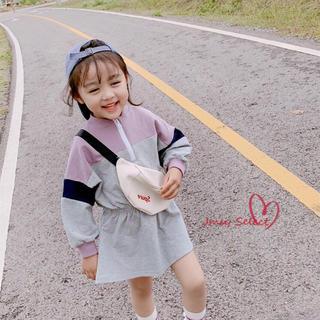 ★新着★ トレーナーワンピース ミニワンピース 韓国子供服 女の子 秋(ワンピース)