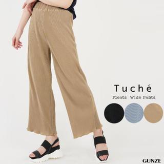 GUNZE - グンゼ プリーツパンツ トゥシェ tuche 裾メロウカット