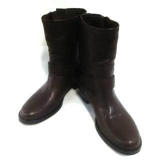 ミュウミュウ(miumiu)のミュウミュウ ショートブーツ 36 1/2(ブーツ)